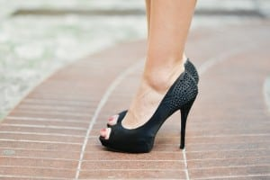 picture of black high heel shoes